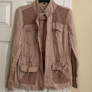 3/$15 Maurices Dusty Pink Anorak jacket